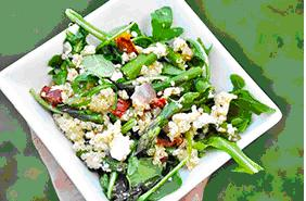 Quinoa, Arugula and Roasted Veggie Salad