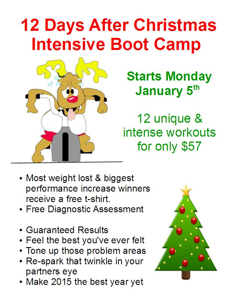 12 Days After Christmas Intensive Boot Camp, Intensive Boot Camp ...