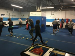 Large group training at Farmingdale