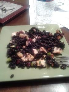 Black Rice and Garlic Chicken Salad
