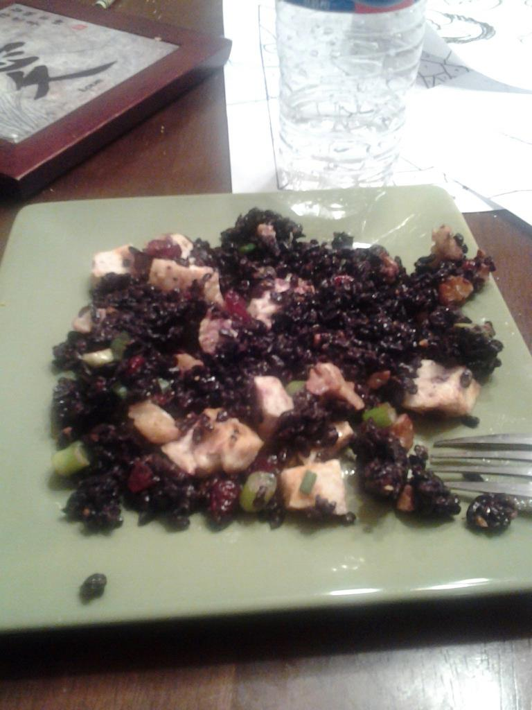 KC's Black Rice and Garlic Chicken Salad