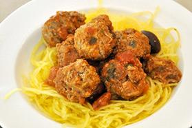 Low Carb Spaghetti and Meatballs