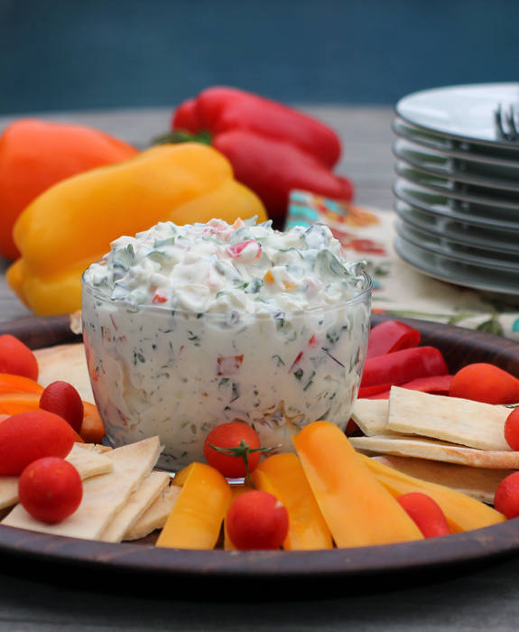 Creamy Triple Pepper and Kale Dip